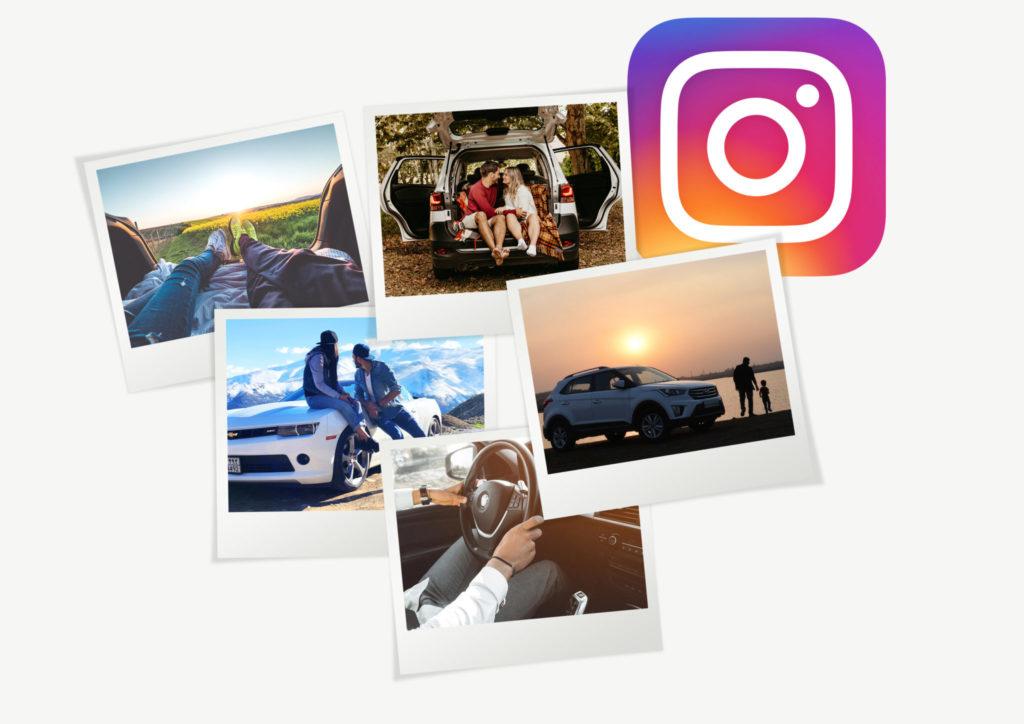 new car collage instagram influencer marketing